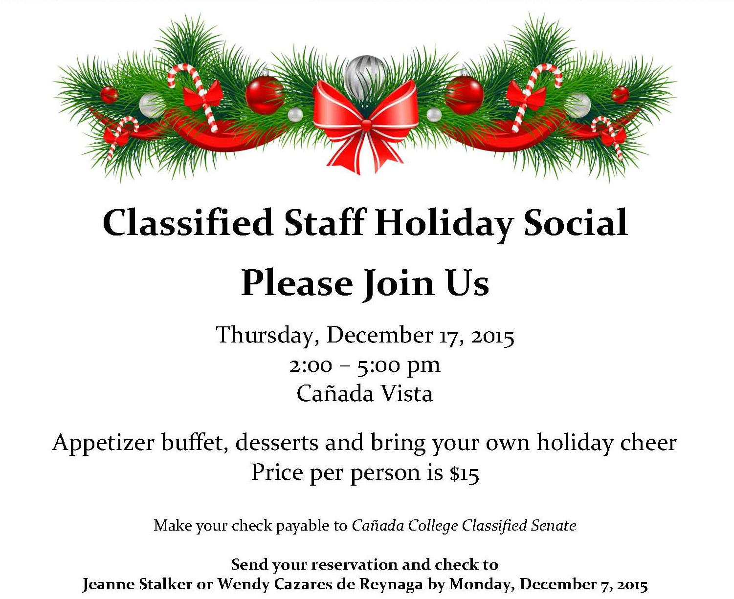 2015 Classified Holiday Social Invitation