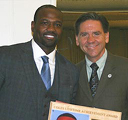 Harold Reynolds and Cañada President Buckley