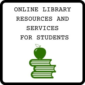 Button for online library resourcs and services for students guide