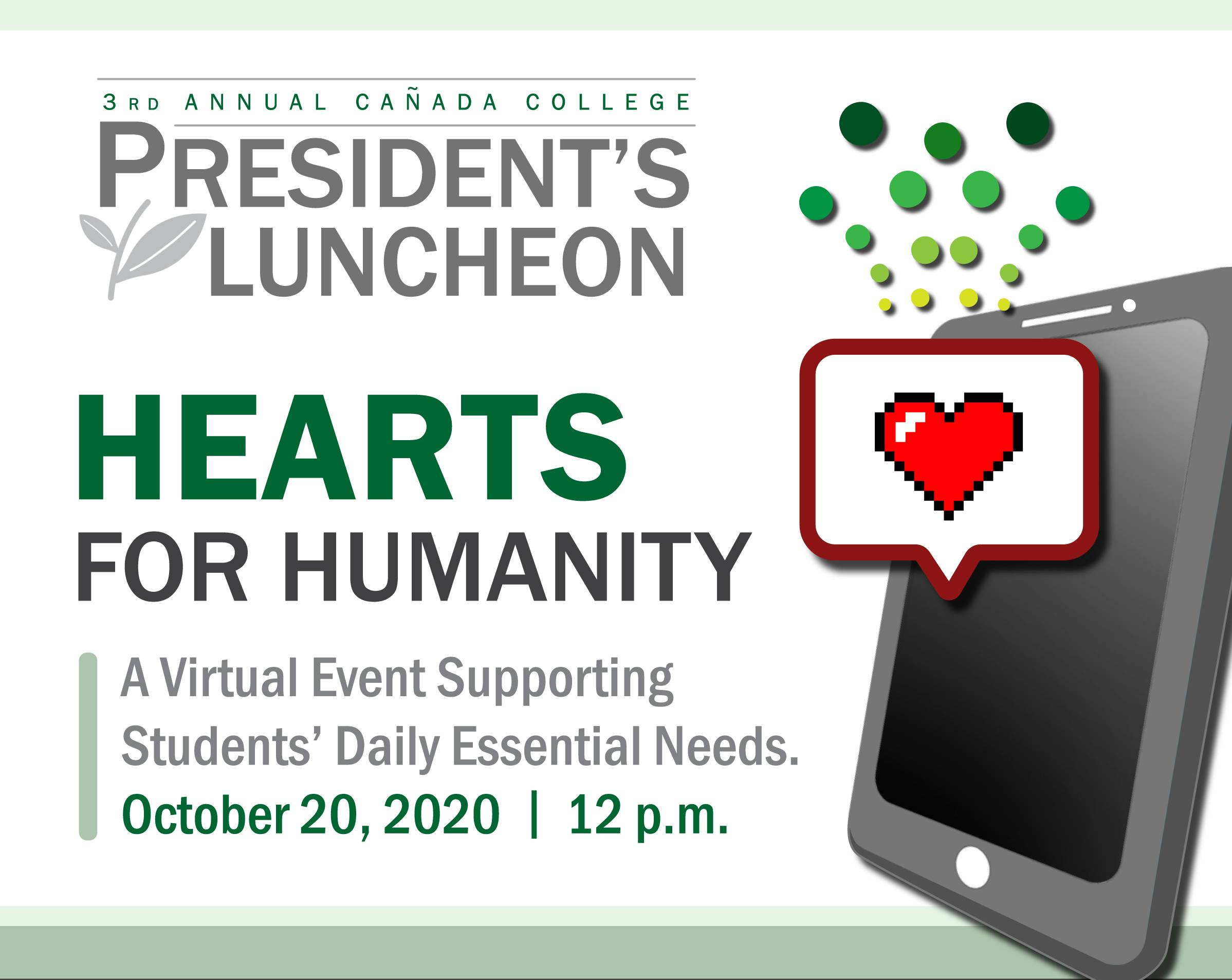 President Lucheon, Virtual Event - October 20, 2020 at 12p.m.